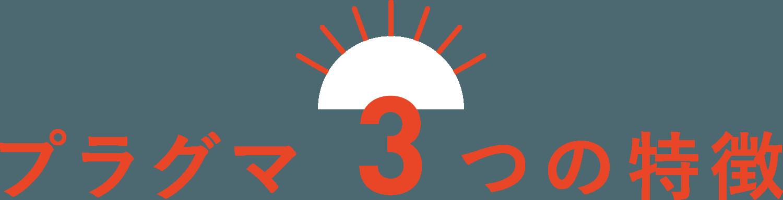 強み-プラグマ3つの特徴